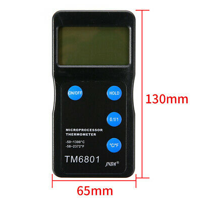 TM6801 K Type Pyrometer High Temperature Thermometer Home Tool Digital Display