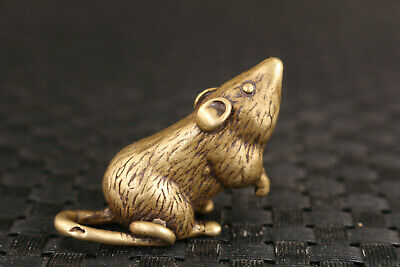 Chinese bronze mouse Statue collectable decoration gift Tea pet home deco