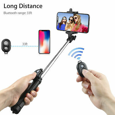 Bluetooth Selfie Stick Remote Extendable Telescopic Monopod & Tripod Phone Stand