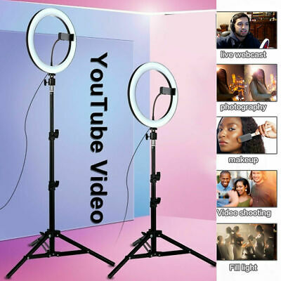 """10"""" LED Ring Light Light Stand Dimmable Photo Studio Selfie Phone Live Lamp HOT"""
