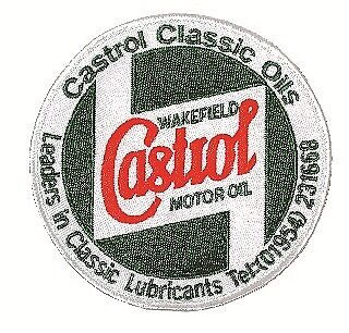 Embroidered Sponsors Sew-On Badge STR657 Castrol Classic Genuine Quality Product