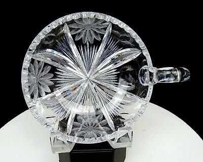 """Brilliant Cut Crystal Daisy And Thistle 6"""" Nappy Bowl"""