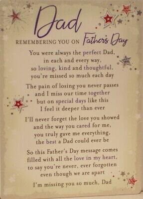 Memorial Grave Card Dad Remembering you on Father's Day 16.5cm x12cm waterproof