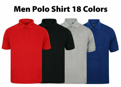 Mens Polo Shirts Short Sleeve Plain Top Designer Style Fit T Shirt Small - 5XL