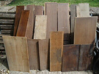 Assortment 19Th  Century Oak And Pine Back Boards
