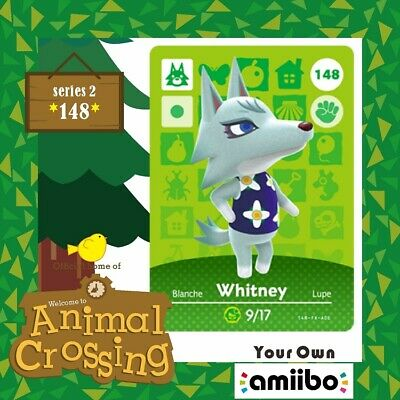 #148 Whitney New Animal Crossing Amiibo Villager Game Card New Horizons Series 4