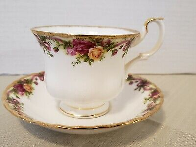 Royal Albert Old Country Rose Ruby Celebration Tea Cup And Saucer