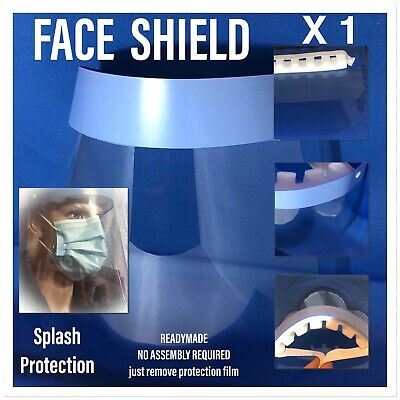 Full Face Covering Shield Visor Clear Glass Face Protection . 1 Pc