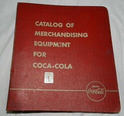 Vintage Coca-Cola 3 Ring Binder for Catalog of Merchandising Equipment