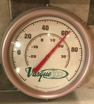Vasque Hiking Boot Vintage Wall Thermometer Industrial Design Camping