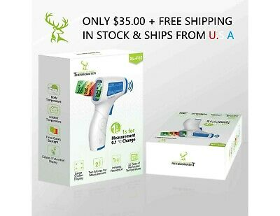 Medical Infrared Non-Contact Laser Thermometer - In Stock & Ships from USA!