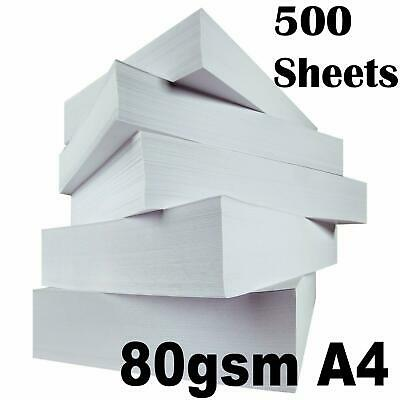 Plain A4 White Printing Paper Printer Copy 80gsm Smooth 500 Sheets Ream