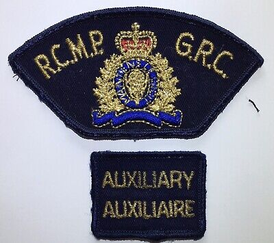 RCMP GRC AUXILIARY Canada Police Patch Set Vintage & Obsolete