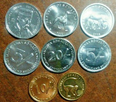 Somaliland: 4-Piece Uncirculated Coin Set -- 5 To 20 Shillings