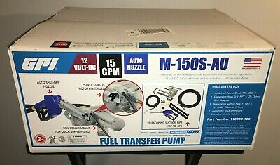 New Sealed GPI 12V Fuel Transfer Pump 15 GPM M-150S-AU