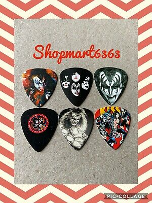 🎸 Lot Of 6 Limited Edition KISS 🎸 Double Printed Guitar Picks Brand New 🎸 #66