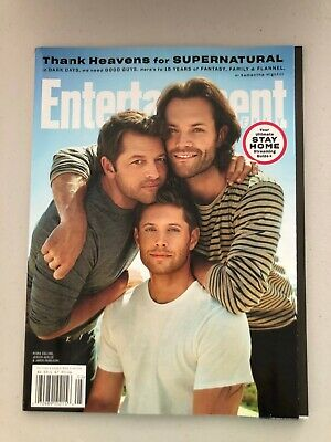 Entertainment Weekly Mag Supernatural Jared Padalecki Jensen Ackles Misha Collin