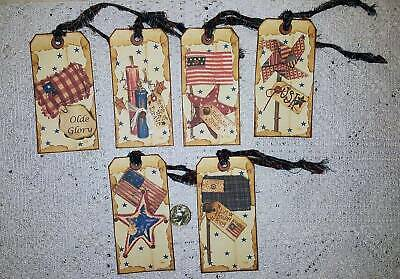 10~Christmas~Old World~Primitive~Fussy Cut~Linen Cardstock~Gift~Hang~Tags~Ornies
