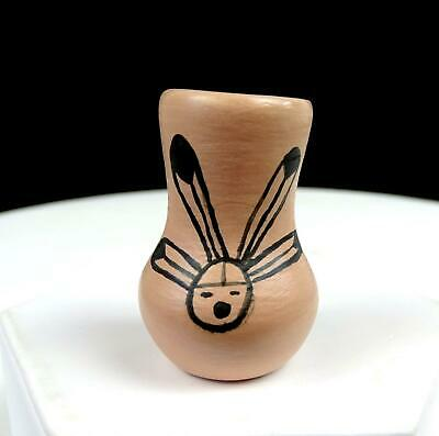 "Negale Signed New Mexico Native American Pottery 1 3/4"" Miniature Vase 1988"