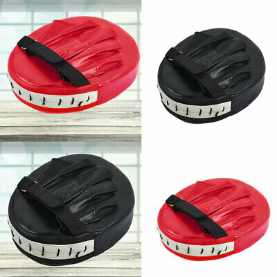 Boxing Gloves And Focus Pads Set Hook Jabs Mitts Punch Bag Gym Training