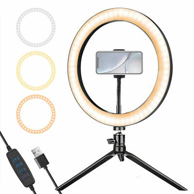 """10"""" LED Ring Light with Stand for Youtube Tiktok Makeup Video Live Phone Selfie/"""