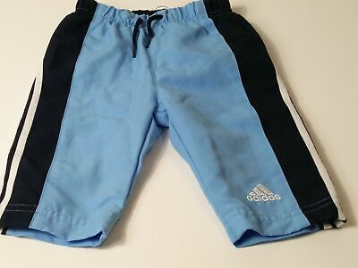Boys Baby Boys Adidas Navy Blue White Tracksuit Bottoms Age 0-3 Months