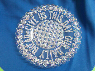 """ANTIQUE 1880's PLATE """" GIVE US THIS DAY OUR DAILY BREAD """" 23 1/2 WIDE # 748"""