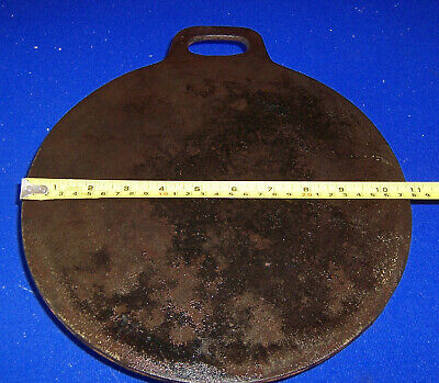 "Vintage Welsh griddle/bakestone 11"" x 5 mms Welsh cakes ace of clubs logo"