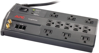 APC 11-Outlet Surge Protector 3020 Joules Phone Network Ethernet Coaxial NEW
