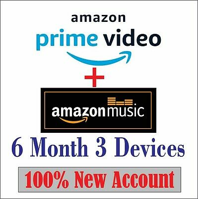 6 Month Amazon Prime Video ➕ prime Music / worlwide