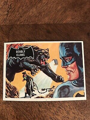 Vintage 1966 Batman Trading Card #34 Deadly Claws Catwoman