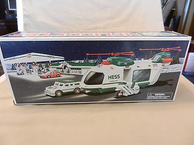 Hess Helicopter With Motorcycle and Cruiser from 2001 BNIB