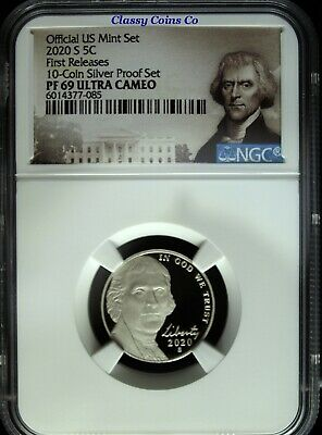 2020 S NGC PF 69 UCAM Jefferson Nickel ☆☆ First Release ☆☆ 10 Coin Silver Proof