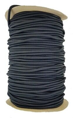 Elastic Cord 3 mm round sold in lengths of 2,3,4,5, Metres Black