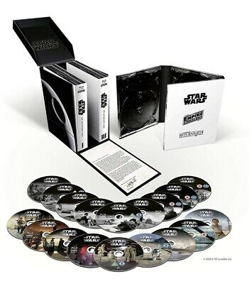 Star Wars The Skywalker Saga Limited Edition Complete Set Blu-ray New Free P+P