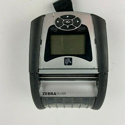 Zebra QLn320 QN3-AUCA0M00-00 Bluetooth Mobile Thermal Printer TESTED AND WORKS