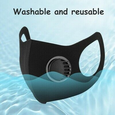 10 PACK! Reusable Washable Face Mask With Air Ventilation Port US SELLER!