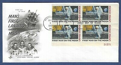 Apollo 11 - 1969 First Man On Moon (4 Stamps) - Artcraft First Day Cover (Large)