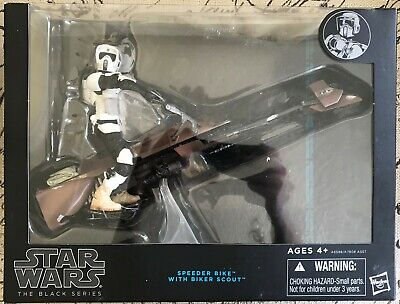 Star Wars The Black Series Speeder Bike & Biker Scout Trooper 6 Inch New Sealed