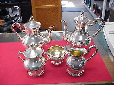 Vintage~PERUVIAN ~CAMUSSO ~ 925 STERLING ~ 5 Piece Coffee Tea Set ~ NICE!!!