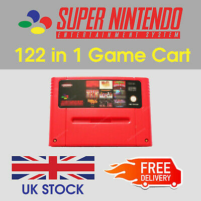 SNES Games - 122 in 1 -Super Nintendo Multi Game Cart (PAL)
