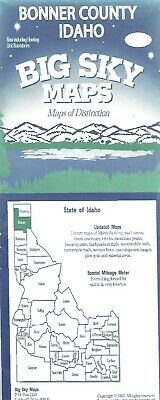 County Map of Bonner County, Idaho, by Big Sky Maps