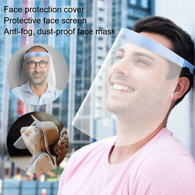 2x Full Face Shield Clear Protective Film Flip Up Visor Safety Cover Guard MT675
