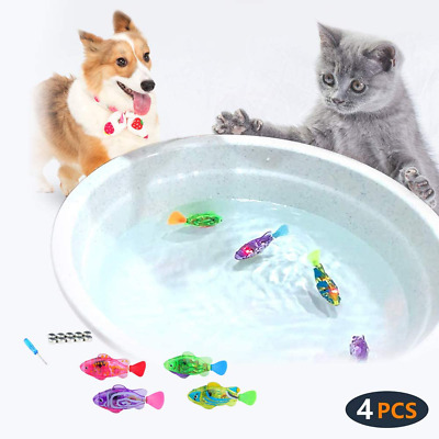 Interactive Swimming Robot Fish Toy For Cat And Dog With LED Light Swimming Toy