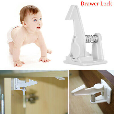 Invisible Blocker Secure Catches Drawer Lock Locks For Kids Closet Locker