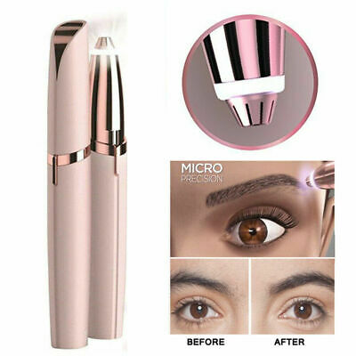 Electric Eyebrow Hair Remover Women's Painless Brows Trimmer Epilator LED Light