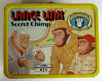 Vintage 1971 Lance Link Secret Chimp Lunch Box. Preowned.