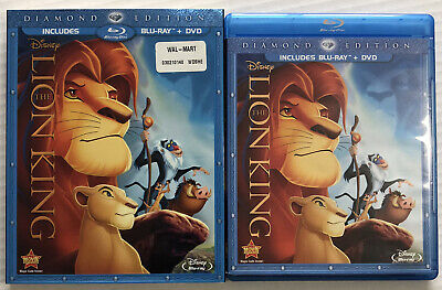 The Lion King (Bluray, Dvd, Disney, 1994, Slipcover) Canadian