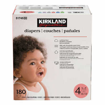 Kirkland Signature Supreme Diapers Size 4: 22-37lbs, 180ct     FREE SHIPPING