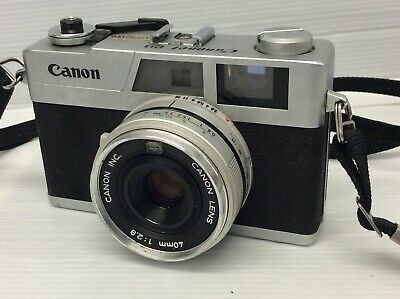 Canon Canonet 28 Rangefinder Camera Canon 40mm f/2.8 Lens (Untested)